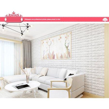 3d brick wall sticker self-adhesive foam wallpaper panels room decal