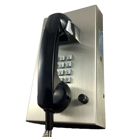 - Cortelco  Stainless Steel Phone with Armored Cord