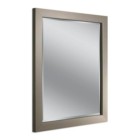 Nickel Swivel Mirror (Headwest Inc Headwest Modern Brush Nickel Wall Mirror - Brushed Nickel - 26 X)