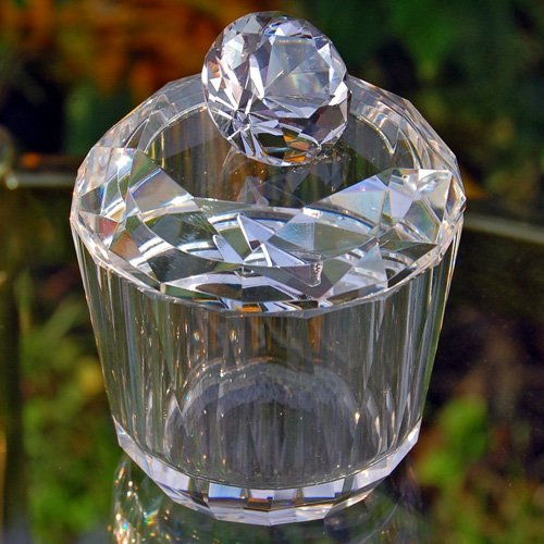 Diamond Shaped Crystal Jewelry Trinket Box - 2.25W x 3.5H in.