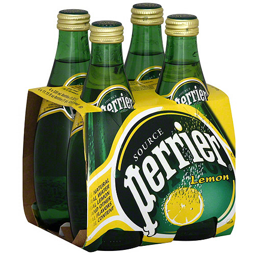 Perrier Sparkling Natural Lemon Mineral Water, 4ct (6 Pack)