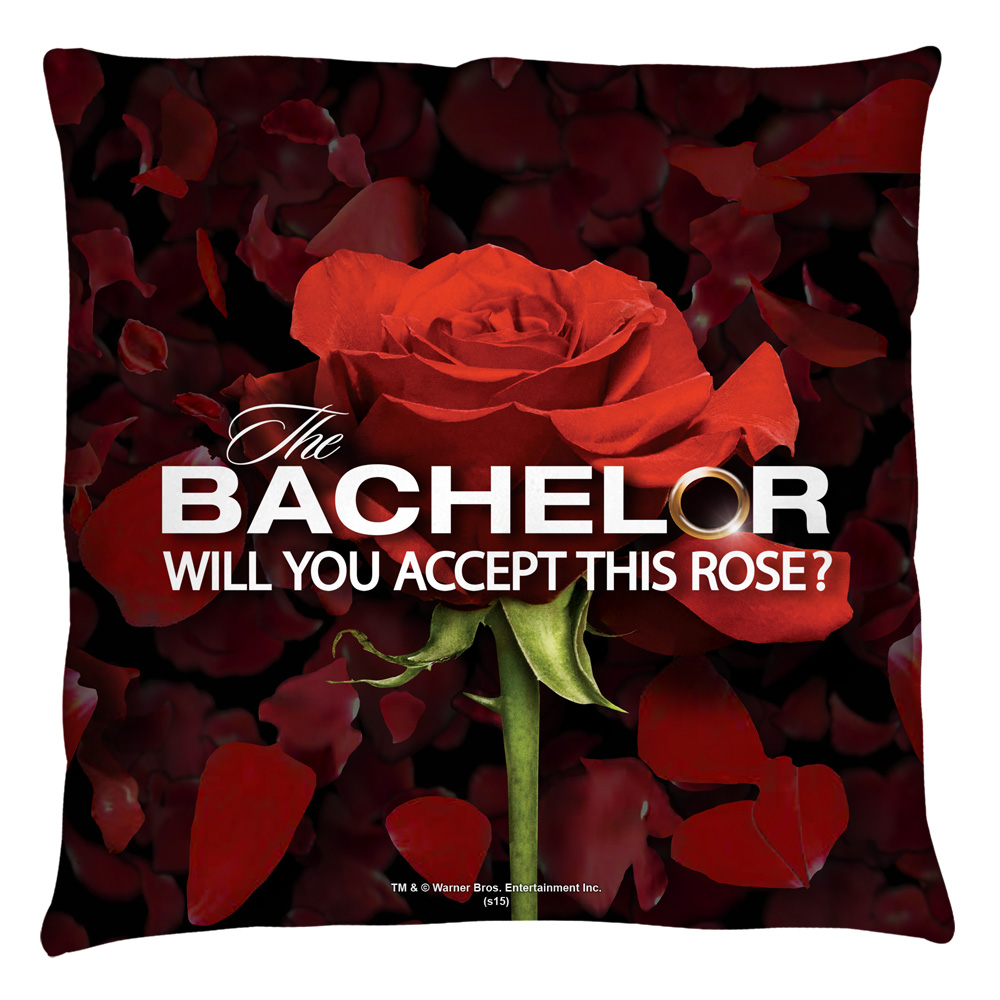 The Bachelor Rose Petals Throw Pillow White 20X20