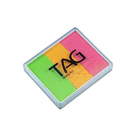 TAG Face Paint Base Blender Split Cake - Gelati (50g), Professional Face Painting cake containing 3 Regular colors By TAG Body Art Ship from US