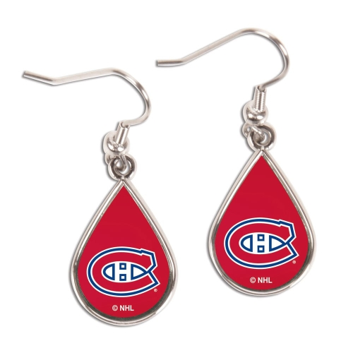 Montreal Canadiens WinCraft Tear Drop Dangle Earrings - No Size