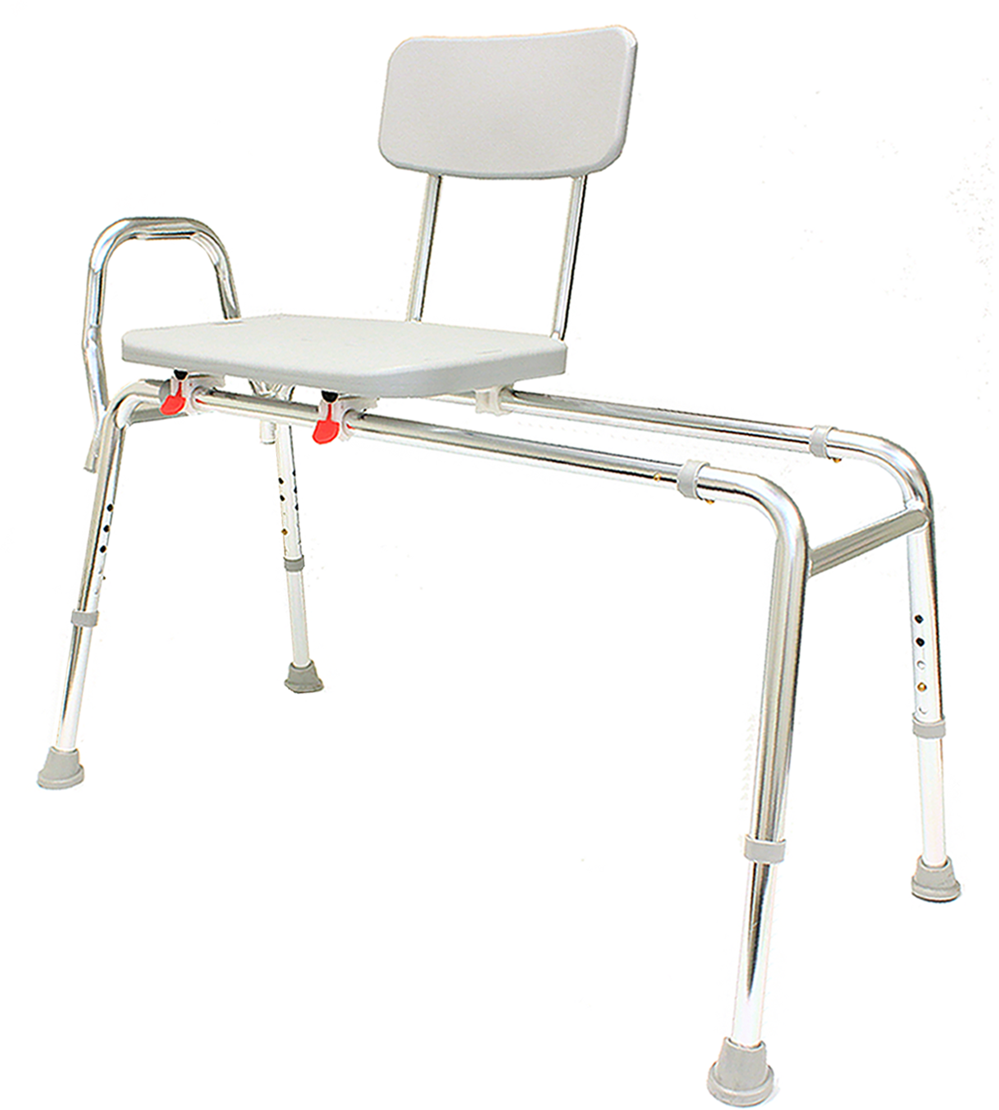 "Sliding Bath Transfer Bench (77291) - Extra Long (Base Length: 48"" - 49"") - Heavy-Duty Shower Bathtub Chair - Eagle Health Supplies"