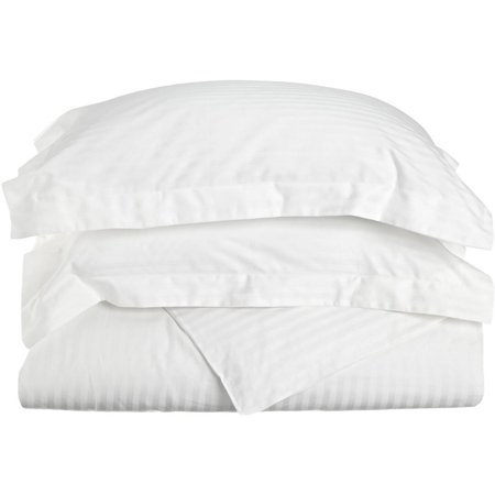 Superior 300 Thread Count Long Staple Combed Cotton Stripe Duvet Cover Set