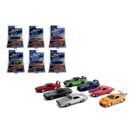 2 Car Subway Set - Fast & Furious Build N Collect Wave 2, 6pc Diecast Car Set IN BLISTER PACKS 1/55 by Jada