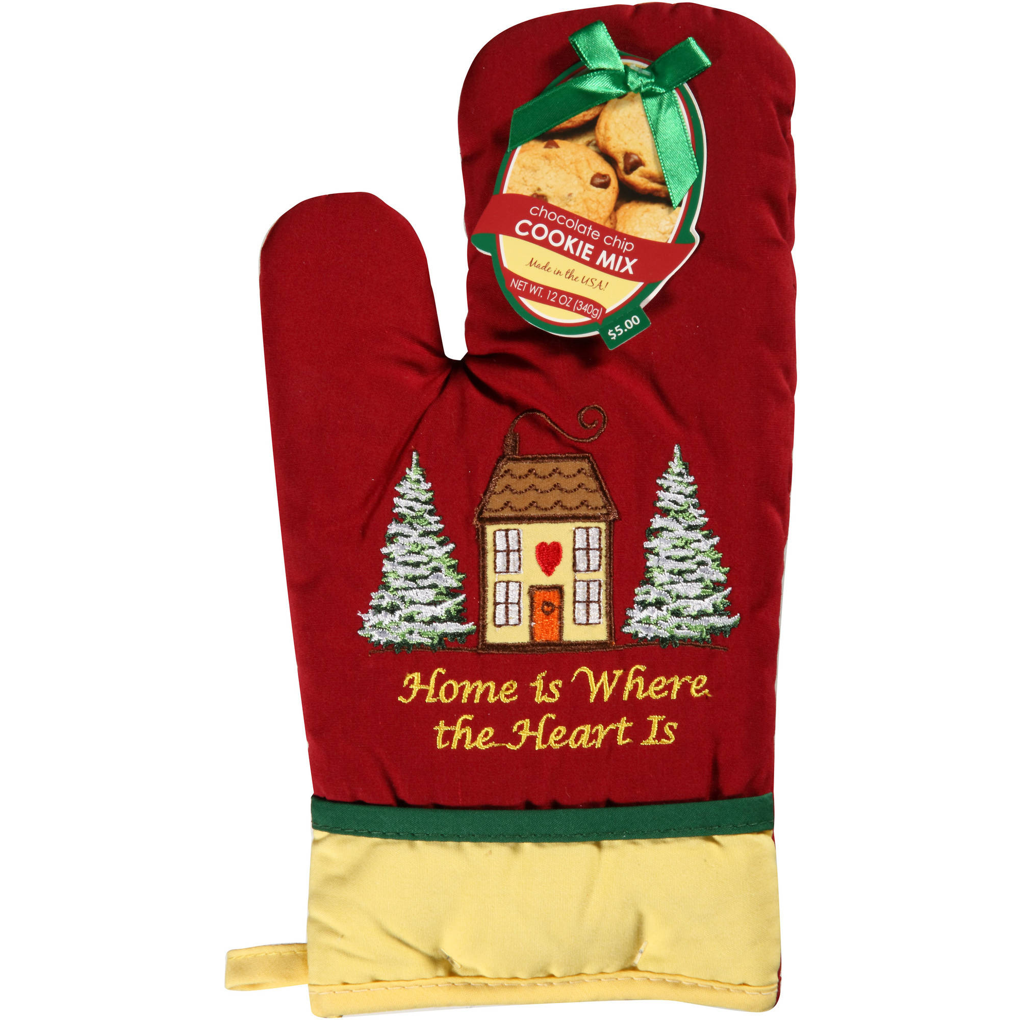 Holiday Shaped Pot Holder with Cookie Mix, 2 Piece Gift