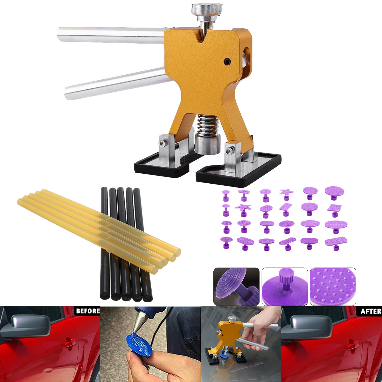 Lanbowo Car Paintless Dent Puller Repair Tool Kit Lifter Hail Damage Removal for Vehicle