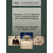 Campisi V. U S U.S. Supreme Court Transcript of Record with Supporting Pleadings