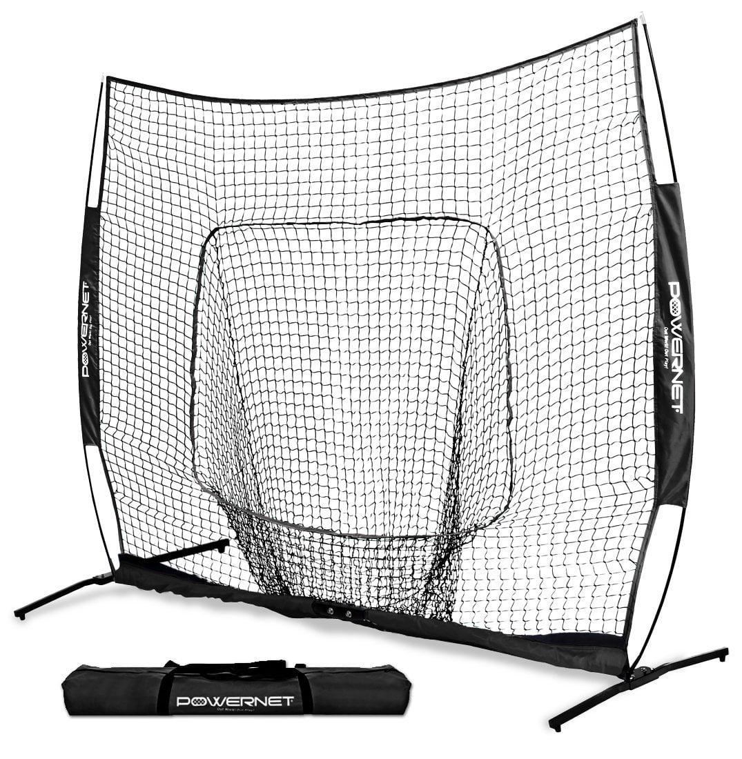 PowerNet XLP PRO Baseball Softball 8 ft X 8 ft Team Colors Practice Hitting Net by PowerNet