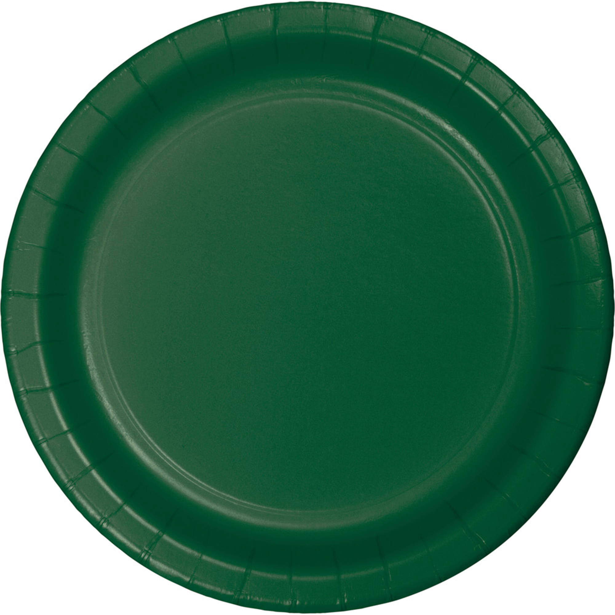 Hunter Green Paper Plates, 24-Pack by Creative Converting