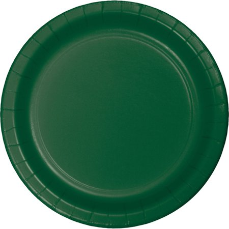 Hunter Green Paper Plates, (Hunter Green Paper)