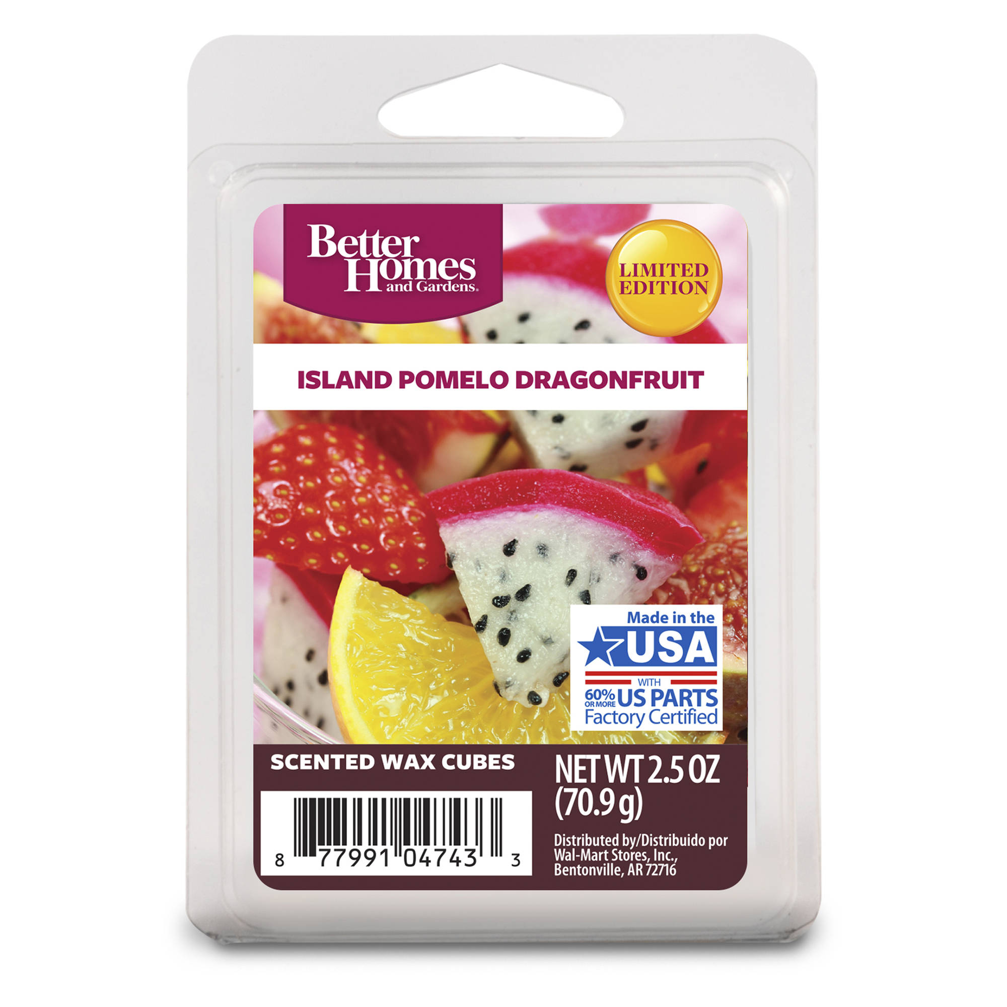 Better Homes and Gardens Wax Cubes, Island Pomelo Dragonfruit