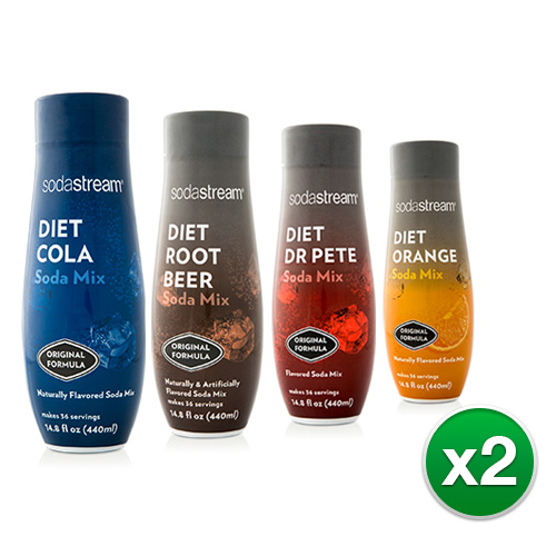 Sodastream Diet Fountain Sparkling Drink Variety Pack (8 Pack)