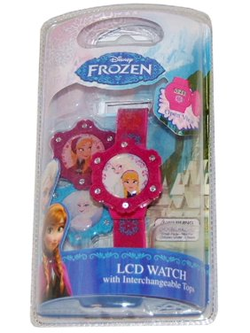 LCD Watch With Interchangeable Tops