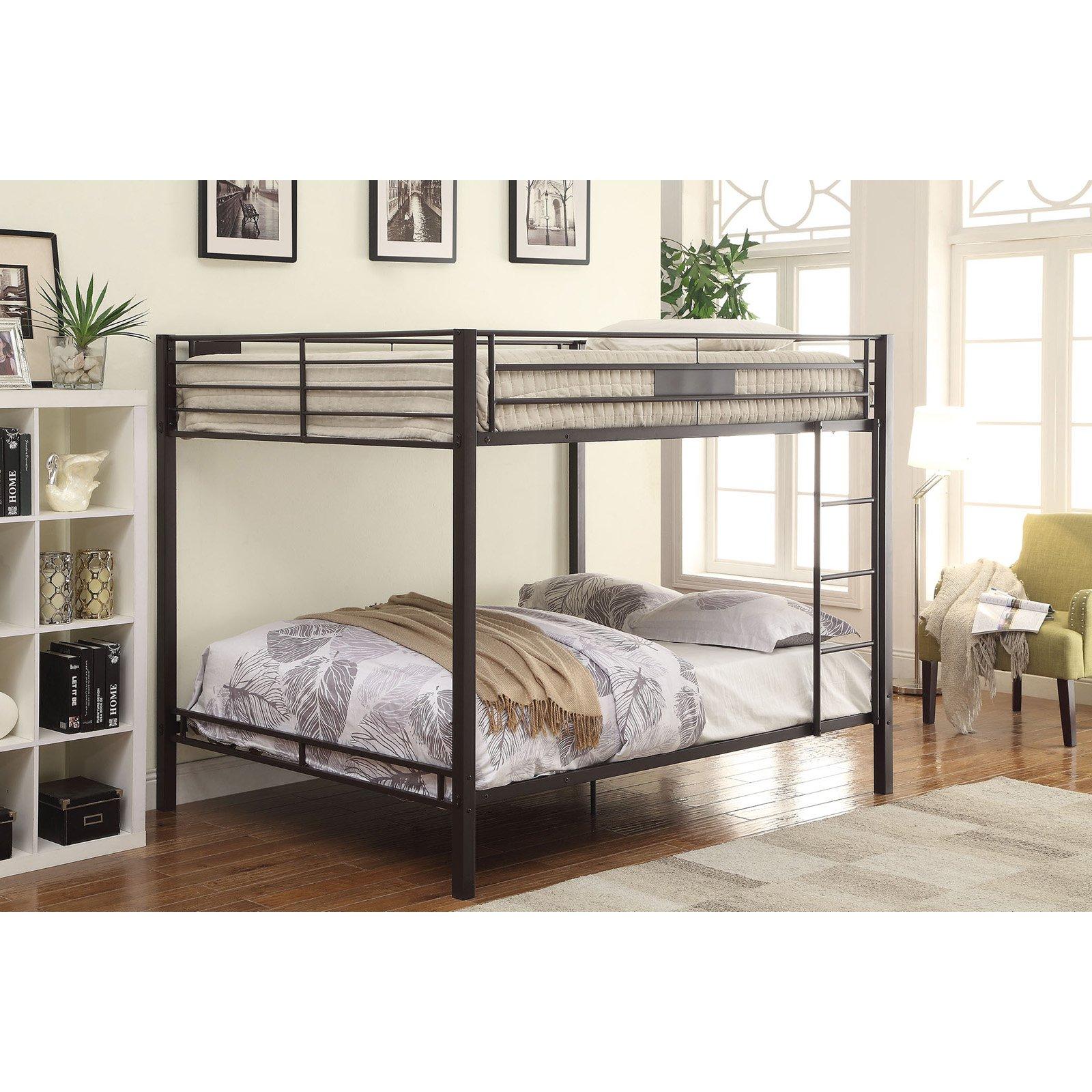ACME Kaleb Queen over Queen Bunk Bed in Sandy Black by Acme Furniture