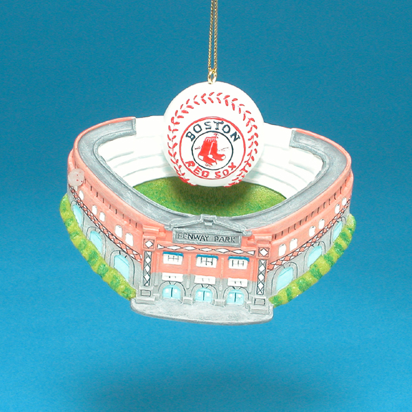 Club Pack of 12 MLB Boston Red Sox Fenway Park with Baseball Christmas Ornaments