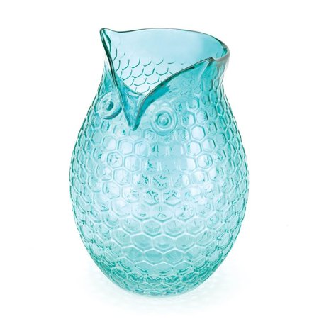 Vases Small Owl Aqua Blue Decorative Clear Glass Vase Walmart