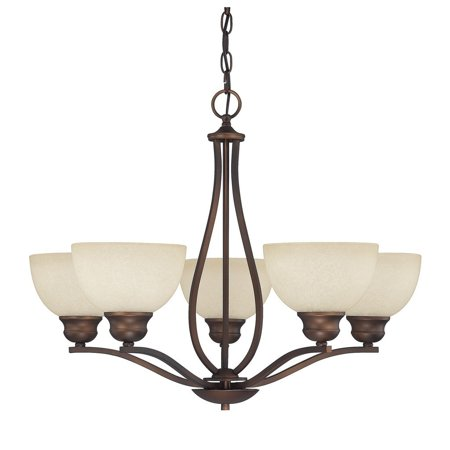 Capital Lighting  Stanton Collection 5-light Burnished Bronze Chandelier