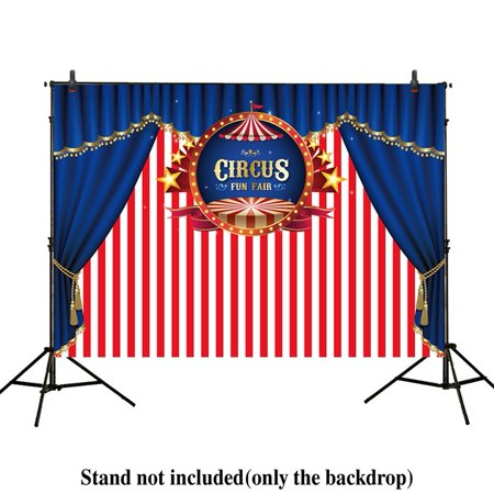 MOHome Polyster 7x5ft photography backdrop background Blue Curtain circus stratus Playground carnival Carousel party banner Newborn photo studio booth baby shower photocall