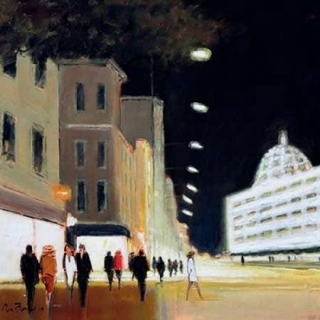 Late Shoppers - Harrods Canvas Art - Jon Barker (24 x 24)