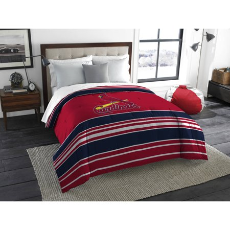Mlb St Louis Cardinals Stripe Life Twin Full Bedding Comforter Set 1 Each