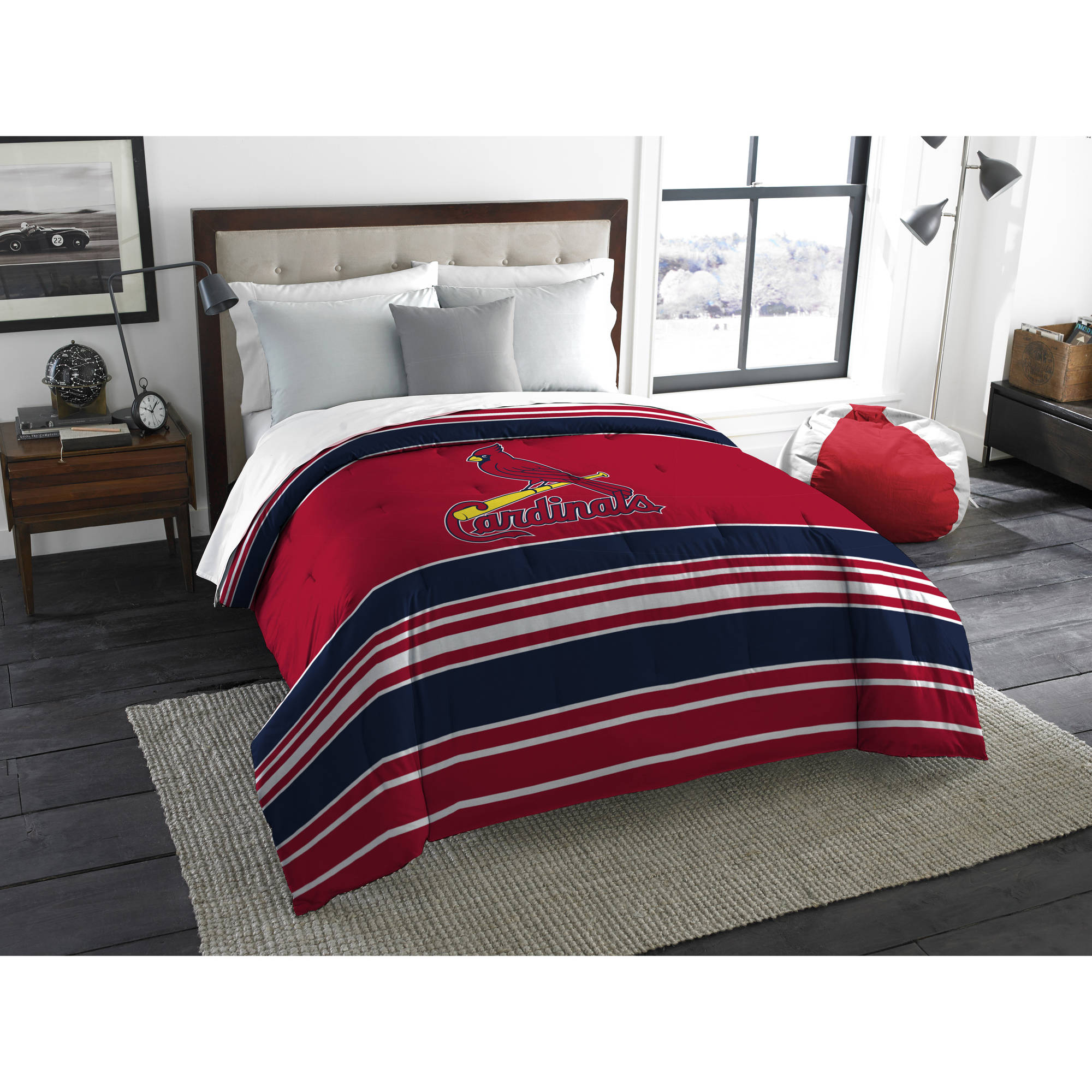 "MLB St. Louis Cardinals ""Stripe Life"" Twin/Full Bedding Comforter"
