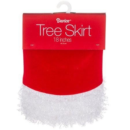 "Mini Tree Skirt W/Border 18""-Red/White - image 1 de 1"