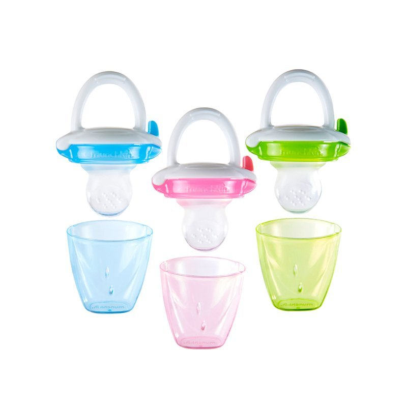 Silicone Baby Food Feeder, Colors May Vary 1 ea, BPA-free and recommended for ages 4+ months By Munchkin