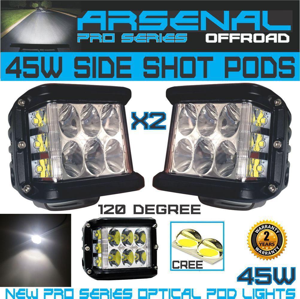 Arsenal Offroad 45W Pro Side Shots POD Cubes CREE LED Spo...