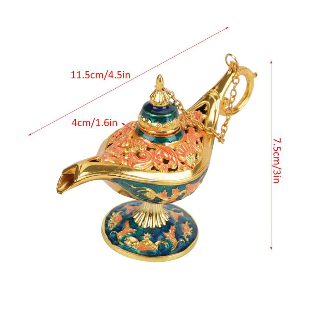 Collectable Light Magic Genie Lamp Legend Wish Pot Savings Gold #2