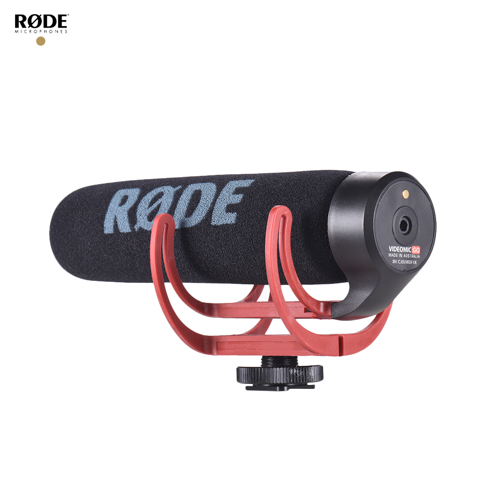 RODE VideoMic Go Super Cardioid Directional Microphone Lightweight On-Camera Shotgun Microphone with Shock Mount Foam Windshield for Canon Nikon Sony DSLR DV Camcorder