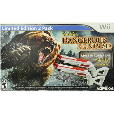 Cabelas Dangerous Hunts 2013 with Double Gun  Nintendo Wii Cabelas Dangerous Hunts 2013 with Double Gun  Nintendo WiiBrand : activisionManufacturer : ActivisionActivision Cabelas Dangerous Hunts 2013 with Double Gun - Nintendo Wii *DLC (Downloadable Content) may not be included and is not guaranteed to work*