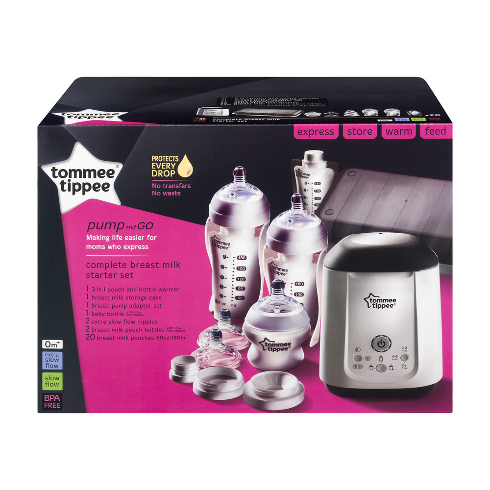 Tommee Tippee Pump and Go Starter Set 0m+, 28.0 PIECE(S)