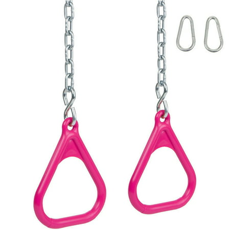 Swing Set Stuff Inc. Trapeze Rings with Chains (Pink)