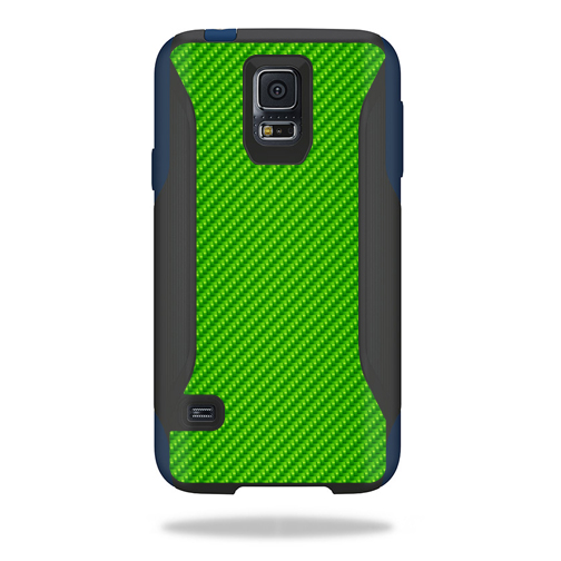 MightySkins Protective Vinyl Skin Decal for OtterBox Commuter Samsung Galaxy S5 Case wrap cover sticker skins Lime Carbon Fiber