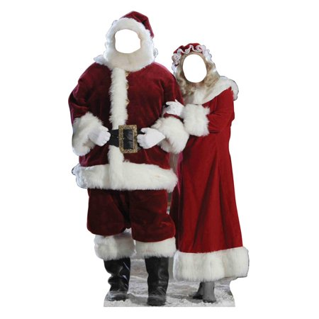 Santa & Mrs. Claus Cardboard Stand-Up, 6ft