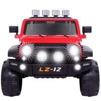 Kids Ride On Car Toy Jeep Rechargeable Battery 4 mph Remote Control Red