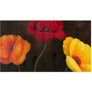 "Trademark Fine Art ""Orange, Red and Yellow"" Canvas Wall Art by Rio"