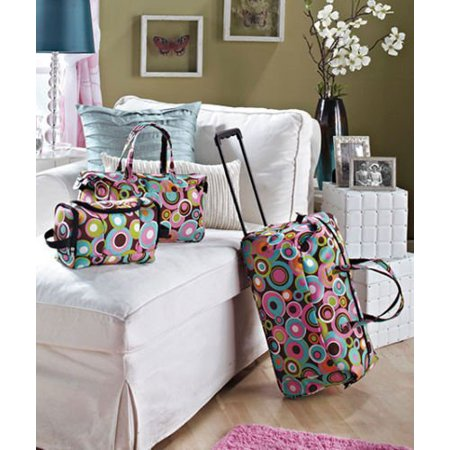 Check Small Tote - Bigbolo Rolling Luggage 3 Piece Set Suitcase Duffle Bag Toiletry Tote Vacation Travel