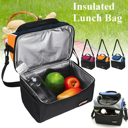 d0b8cdd57b0b SANNE Dual Compartment Insulated Lunch Box Lunch Bag for Adults Men Women,  6.5 L Cooler Bag, Water-Resistant Leakproof Thermal Bento Bag for ...