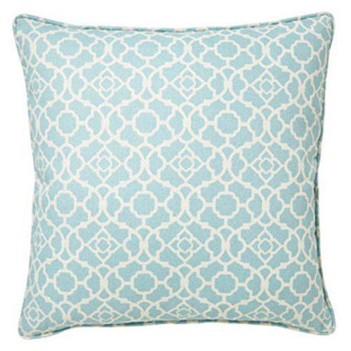 Jiti Moroccan Blue 20 x 20 Square Outdoor Pillow