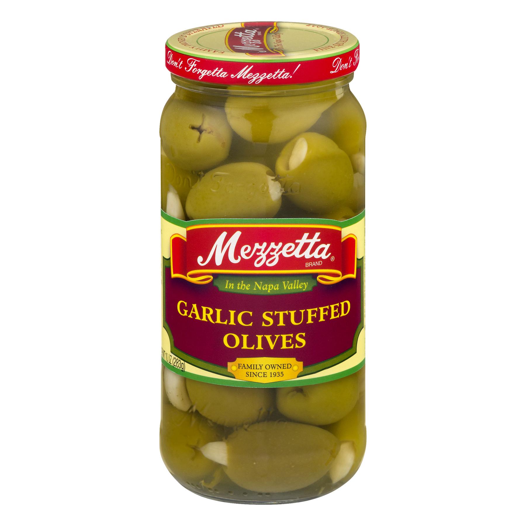 Mezzetta Garlic Stuffed Olives, 10.0 OZ