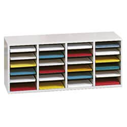 Safco  Adjustable Wood Letter-size 24-compartment Literature (Safco Panelmate Waterfall Sorter)