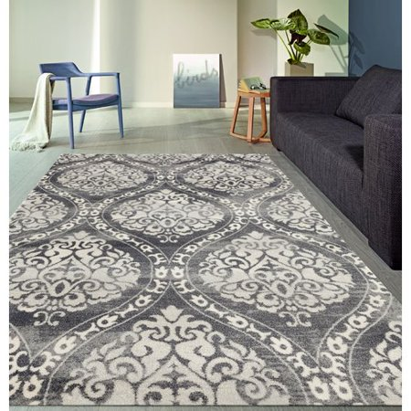 Demonte Charcoal Gray Area Rug