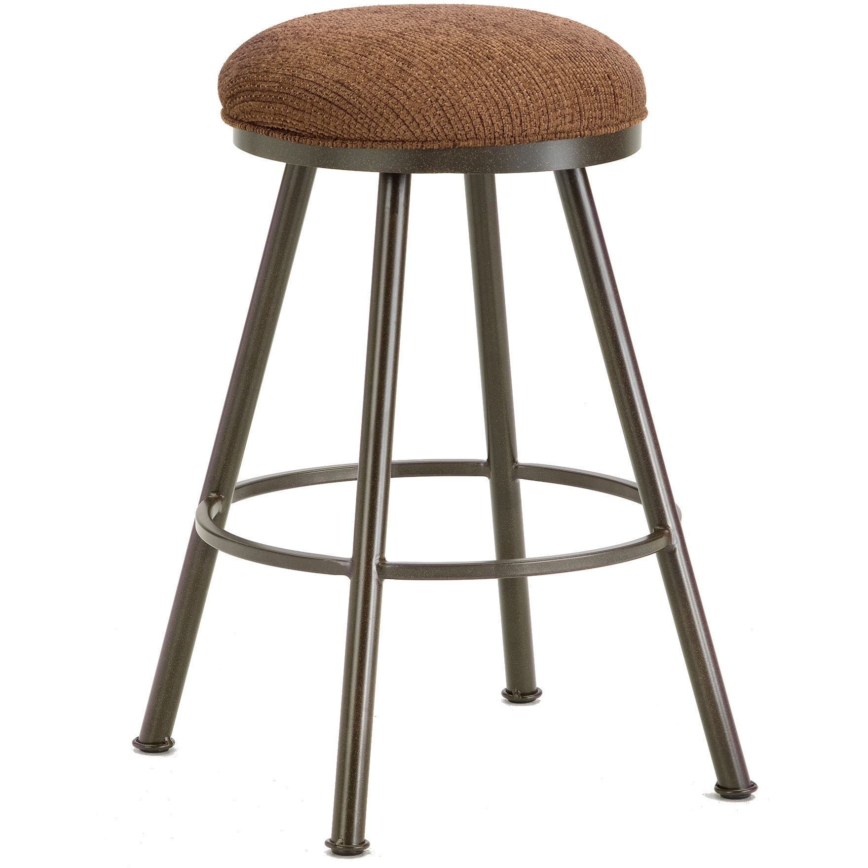 DFI Alexander Steel Upholstered Backless Swivel Bar Stool