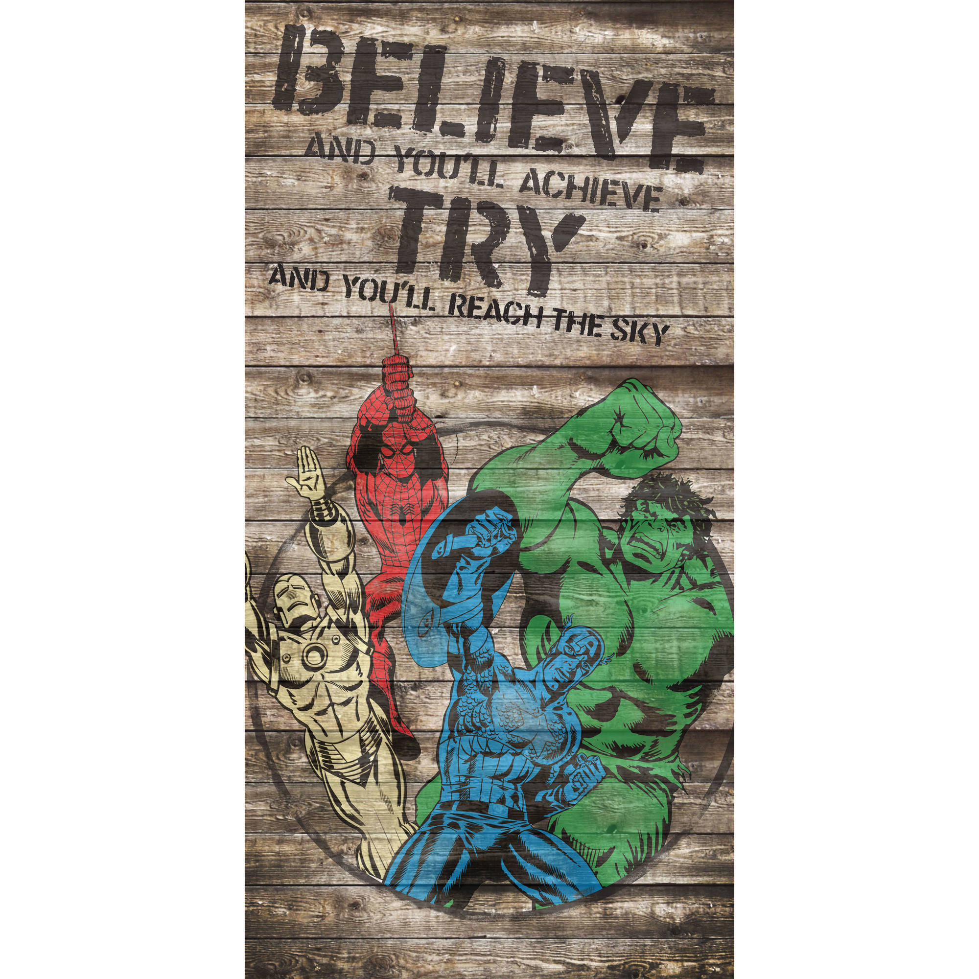 Marvel Avengers 'Believe' Inspirational Canvas