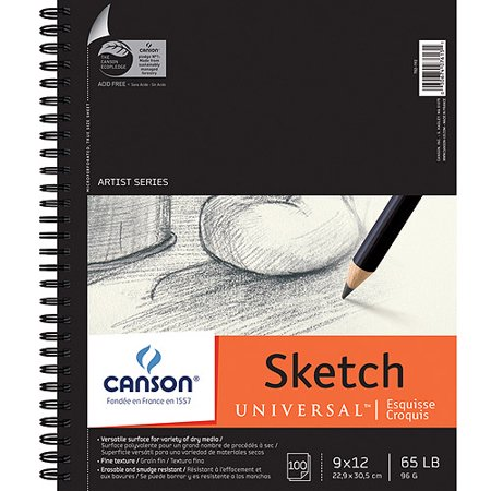 Canson Universal Spiral Sketch Book, 100 Sheets