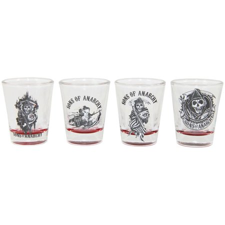 Sons of Anarchy Red Bottom Shot Glass Set of - Sons Of Anarchy Shop